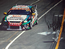 David Wall SIGNED 12x8  Dick Johnson Racing Ford Falcon, Clipsal 500 , 2014