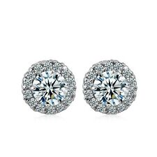 Cheap Wholesale 18K White Gold Filled Jewelry Womens Fashion CrystalCZ Earrings