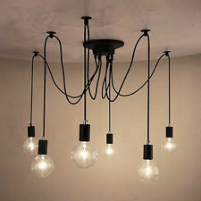 Modern Fixture Ceiling Lamp Fitting Edison Bulbs Bar 6 Lampholder Pendant Lights
