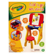 Crayola Play 'N Fold 2-In-1 Art Studio + PAPER + ERASER ~ BRAND NEW, NEW IN BOX