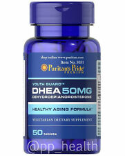 Puritan's Pride DHEA 50mg 50 Tablets Building Muscle Burning Fat MADE IN USA c