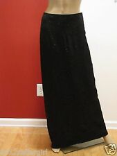 CACHET BLACK METALLIC LONG MAXI FLORAL STRAIGHT FORMAL COCKTAIL SKIRT 6 $148