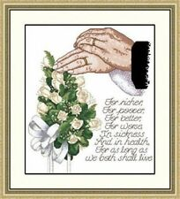 "NEW Cross Stitch Kits""Wedding assurance"""