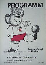 Programm 1979/80 BFC Dynamo - FC Magdeburg
