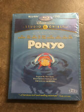 Ponyo (Blu-ray/DVD, 2010, 2-Disc Set) Sealed in Box Gift Xmas