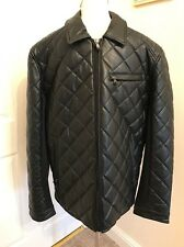 BRAND NEW Michael Kors Leatherette Quilted Jacket. Black. Size XL