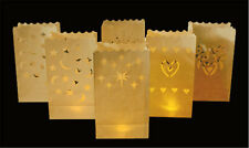 PACK OF 10 PARTY TEALIGHT CANDLE BAGS LANTERN IDEAL FOR WEDDINGS GARDEN PATH