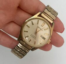 Vintage Benrus Automatic Stainless Steel 17 Jewels Men's Wrist Watch Day Date
