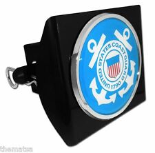 COAST GUARD BLUE SEAL CHROME BLACK DECAL USA MADE PLASTIC TRAILER HITCH COVER