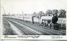 Pamlin repro photo postcard M3520 ex GNR LNER C1 Atlantic 4406 Stevenage 1933