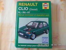RTA HAYNES RENAULT CLIO DIESEL RL-RN-RT EDITION 1999     J53