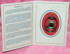 2016 Colonial Williamsburg Market House Bell Ornament 24 Kt Gold-Finish