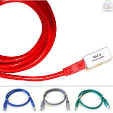 5m Cat 6 Rj45 Red Gigabit Ethernet Lan Cable de extensión plomo cable de M A F