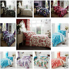 BRAND NEW LUXURY DUVET COVER WITH PILLOW CASES QUILTED BEDDING SETS ALL SIZES