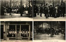PARIS FRANCE LA BOURSE AUX TIMBRES 8 Vintage Postcards pre-1940