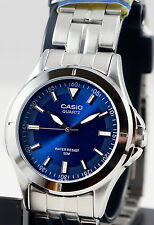 Casio MTP-1214A-2AV Men's Blue Stainless Steel Band Watch Analog New
