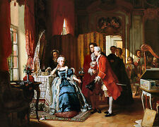 Old Masters A4 Reprint (f400) holding Court. Jean Carolus 1862
