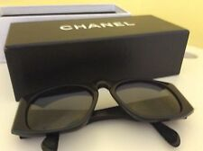 AUTH CHANEL QUILTED BLACK SUNGLASSES