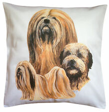 Lhasa Apso Breed of Dog Group Cotton Cushion Cover - Perfect Gift