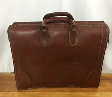 Vintage Jile Brown Cowhide Leather Attaché Briefcase Made In USA Fast Ship