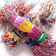 Free-ship Wholesale Handmade Bracelets Rope Lot Braid Strands Friendship 40pcs