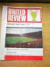 14/12/1968 Manchester United v Liverpool  (Token Missing, Slight Creasing). No o