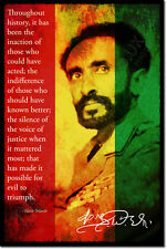 HAILE SELASSIE I ART PHOTO PRINT POSTER GIFT ETHIOPIA QUOTE