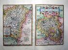 1603 Ortelius 2-Part Map HESSEN: FULDA & ENVIRONS + WALDECK REGION Germany FINE!