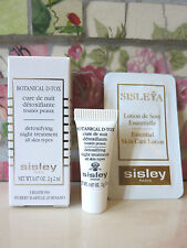 Lot of (2) Sisley Samples Botanical D-Tox & Sisleya Essential Skin Care Lotion