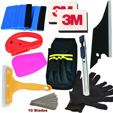 Car Wrapping Installation Tools Kit Vinyl Wrap Bag Squeegee Razor Glove