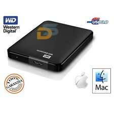 HARD DISK ESTERNO 2,5 1 TB 1000GB WD WESTERN DIGITAL USB 2.0/3.0 PER MAC MACBOOK