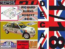 DECAL 1/18 PEUGEOT 309 GTI RICHARD BURNS RAC RALLY 1991 (02)
