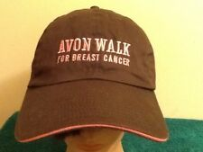 NEW Avon Walk For Breast Cancer Women's Baseball Hat Cap Brown Pink Adjustable