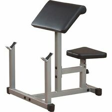 Body Solid Powerline PREACHER CURL Weight Bench Seated Dumbbell Biceps PPB32X