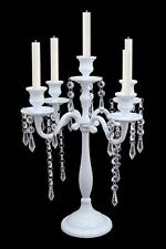 5 Arm Crystal White Candelabra Wedding Centrepieces Taper Candle Holders Decor
