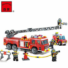 ENLIGHTEN Fire Rescue Police Truck Fireman Building Blocks Minifigures Toys Gift