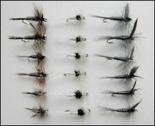 18 Dry Trout Fishing Flies  Adams,Caenis,Blue Dun, Mixed Size, TOP SELLERS