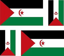 Set of 4x sticker vinyl car bumper decal outdoor car moto flag western sahara