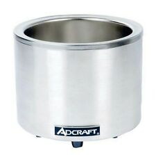 Adcraft Fw-1200Wr, 7/11 Qt. Round Stainless Steel Food Cooker/Warmer