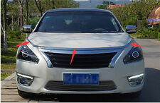 ABS Chrome Front Hood cover trim 3pcs for Nissan Teana Altima 2013 2014 2015