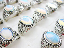 wholesale jewelry lots 5pcs silver plated & Opal rings free shipping J203