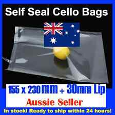 100 CELLOPHANE CELLO CLEAR BAGS - 155 x 230mm C6 Cards