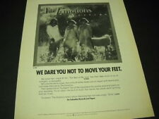 The EMOTIONS we dare you not to move your feet 1978 PROMO DISPLAY AD mint cond