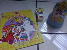 Rainbow Brite Paper Doll, B-day Hat and Foam Doll