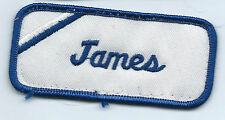 James name tag patch 1-5/8 X 3-5/8