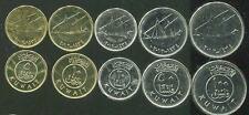 KUWAIT SET 5 COINS 5 10 20 50 100 FILS 2012 UNC