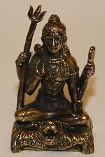 White Metal Gold/Silver Statue, Shiva, Home Decor, Nepal, S-26, New