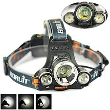 10000LM 3xXM-L T6+2R5 LED Phare Lampe Frontale Torch Flashlight Headlamp lumière
