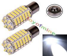 2pcs Car 120 LED 3528 SMD 1156 BA15S Pure White Fog Head Light Lamp Bulb DC 12V