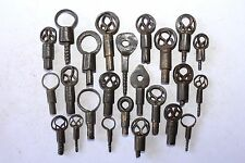 Lot of 24 Antique Iron Beautiful Shape Handcrafted Unique Screw Type Lock Keys48